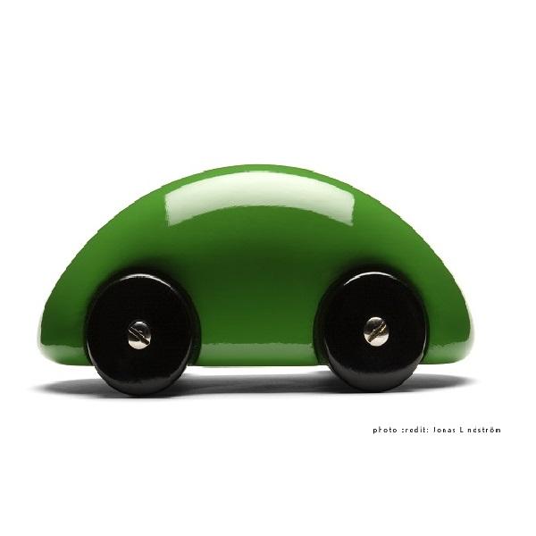PLAYSAM(プレイサム)Streamliner green 13233/ おもちゃ オブジェ 車 木製 シンプル 北欧 ギフト