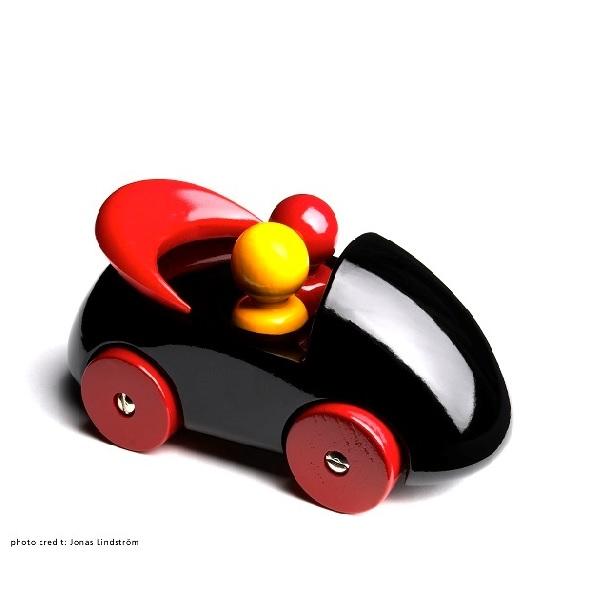 PLAYSAM(プレイサム)Streamliner Cab Black 21150/ おもちゃ オブジェ 車 木製 シンプル 北欧 ギフト