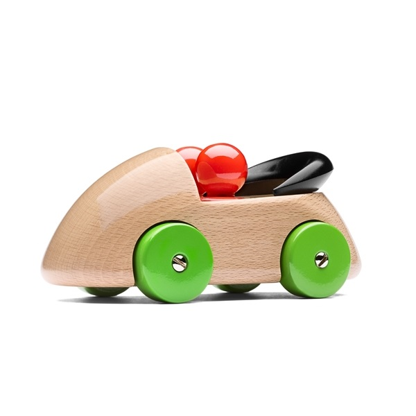 PLAYSAM(プレイサム) Streamliner Green Line Cab 13238/ おもちゃ オブジェ 車 木製 シンプル 北欧 ギフト