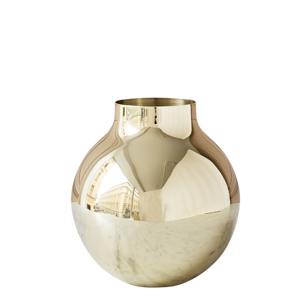 SKULTUNA(スクルツナ) BOWL フラワーベースL No.784 L / 花瓶 北欧デザイン シンプル モダン 真鍮