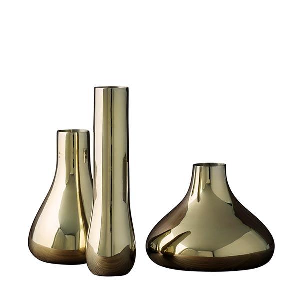 SKULTUNA(スクルツナ) Bonbon ミニフラワーベース3Pセット No791/ 一輪挿し ギフト 花瓶 北欧デザイン シンプル スタイリッシュ オブジェ インテリア 真鍮