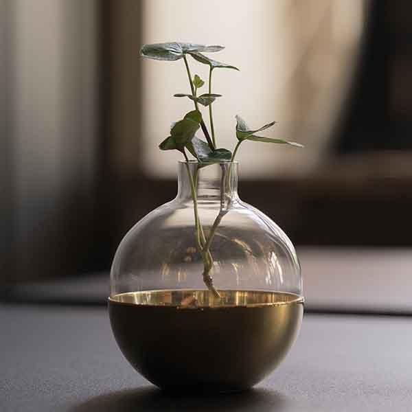 SKULTUNA(スクルツナ) POME フラワーベース&キャンドルホルダーS No. 651 / 一輪挿し ギフト 花瓶 北欧デザイン シンプル スタイリッシュ オブジェ インテリア 真鍮