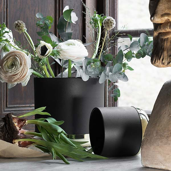 SKULTUNA(スクルツナ) NURTURE フラワーポットL No.621-L / 植木鉢 ギフト 花瓶 北欧デザイン シンプル スタイリッシュ オブジェ インテリア 真鍮