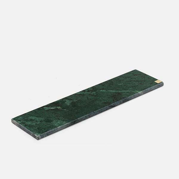 SKULTUNA スクルツナ GREEN MARBLE 42x11cm No.044/ 大理石 トレイ ディスプレイ