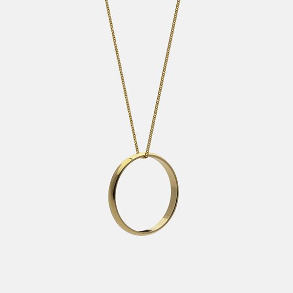 商店 シンプルなリングモチーフのネックレス 売買 北欧 インテリア 雑貨 ICON SKULTUNA スクルツナ ネックレス
