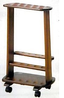 株式会社ひまわり『V09802 木製ディスプレイスタンド カラー:ダークブラウン』【杖・ステッキ オプション品】(商品発送まで2-3週間程度かかります)