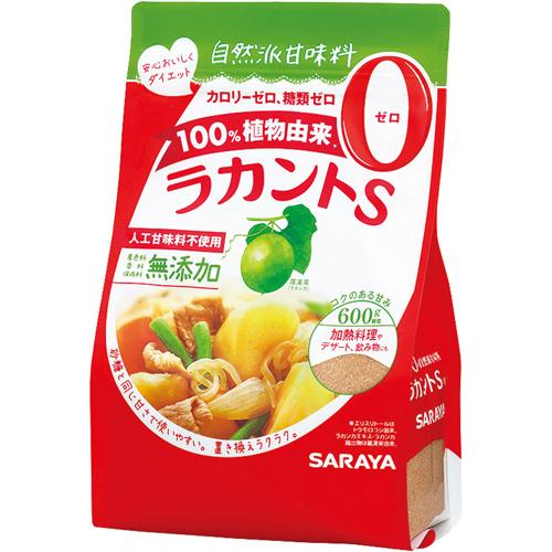 サラヤ カロリー0の自然派甘味料ラカントS 顆粒600g×12個(1ケース)(特別用途食品)甘味料
