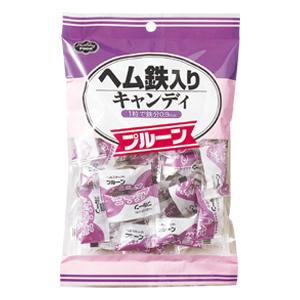 ヘルシーフード株式会社ヘム鉄入りキャンディ プルーン 40粒 24袋(発送までに7~10日かかります・ご注文後のキャンセルは出来ません)