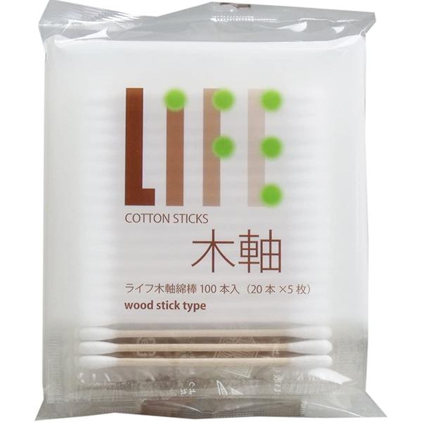 平和メディク株式会社ライフ木軸綿棒100本×40個セット【4000本】 袋入
