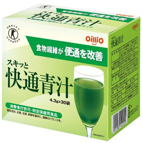 日清オイリオグループ株式会社 スキッと快通青汁 30袋入り×5個セット(特定保健用食品)