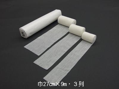 クロス工業株式会社日本製の綿包帯・耳つき包帯白無地耳付包帯5N<巾9cm×9m・3列>10箱(商品到着まで7~10日間程度かかります)(この商品は注文後のキャンセルができません)