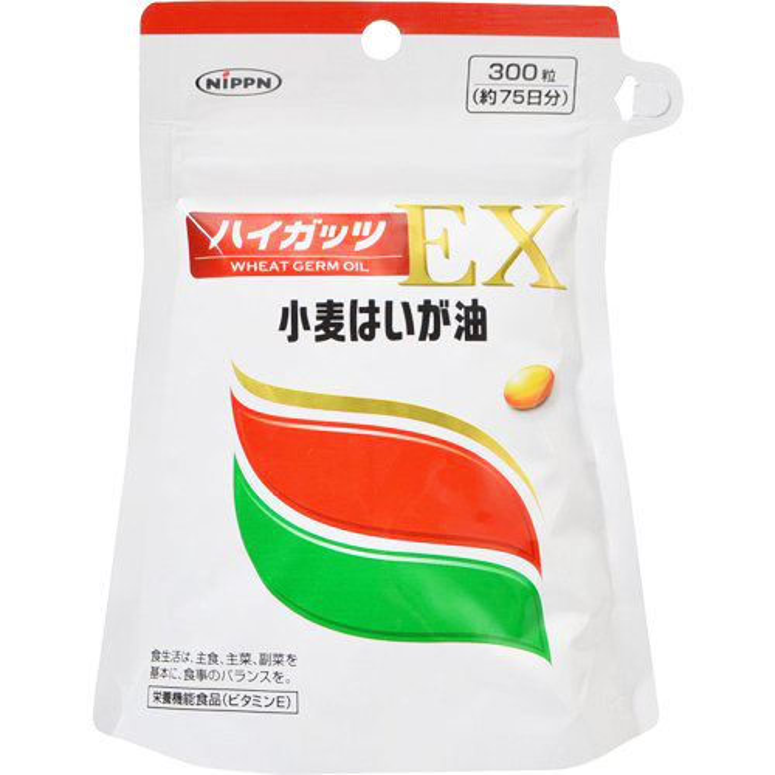 【ただいま奉仕中!100粒サンプル付き】日本製粉株式会社<小麦はいが油加工食品>ハイガッツEX 300粒×6袋セット【栄養機能食品(ビタミンE)】