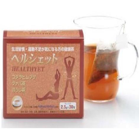 スノーデン株式会社 ヘルシェット 2.5g×30包入×5箱セット<ほうじ茶、コタラヒムブツ(サラシア・レティキュラータ)、グァバ茶>(この商品は注文後のキャンセルができません)