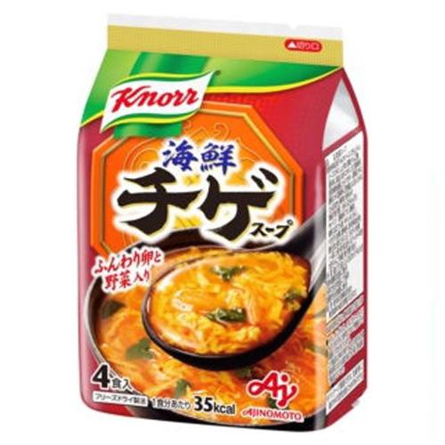 味の素 株式会社「クノール(R) 海鮮チゲスープ」4食入袋 37.6g×10個セット【たんぽぽ薬房】【■■】