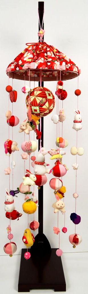 【送料無料】 ひな人形小物【北寿監修】吊るし飾りYM-19 大傘付 台付