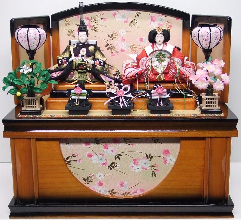 【ひな人形】親王収納飾り【北寿監修】王朝 桜刺繍※サービス品付き