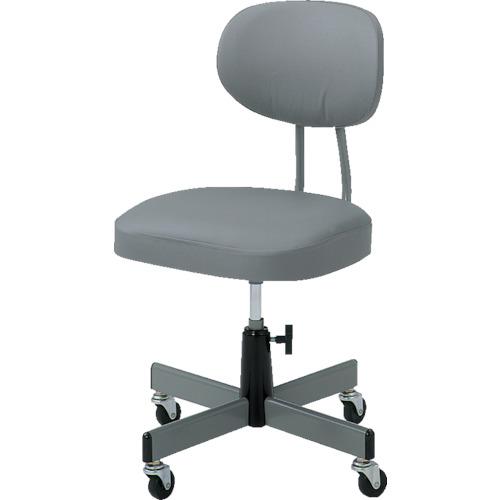 TRUSCO 本店 新登場 事務椅子 ビニールレザー張り グレー 8000 T-80