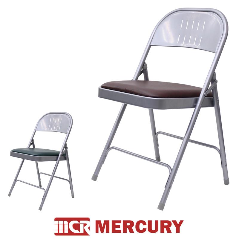 【4脚セット】MARCURY マーキュリー フォルディングチェア スチール製 折りたたみ椅子 クラシック ビンテージ アメリカ クラシック ビンテージ 雑貨 ガレージ アイテム カラフル スチール ゴミ箱 おしゃれ
