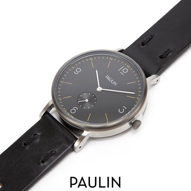 PAULIN ポーリン 腕時計 TN100B-BL-B コミューター・ヌメリカル B ブラック 37mm ユニセックス