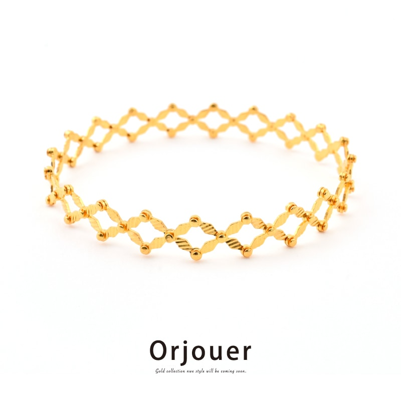 Orjouer - オルジュール Au916刻印 ゴールド マジックリング・ブレスレット リング~ブレスレット 変形 K22相当 金22 ピュアゴールド ハンドメイド ジュエリー G22