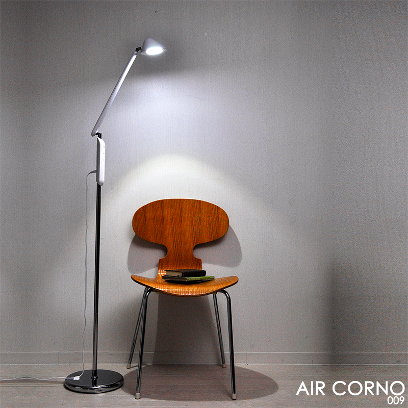 全店販売中 おすすめ 間接照明 スタンドライト LED フロアライト フロアスタンド LED電球 調光式 おすすめ照明 スタイリッシュデザイン エアコルノ 世界の人気ブランド 009 シンプル AIR CORNO aircorno009