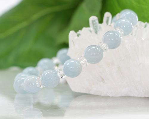 アクアマリン ブレスレット 藍玉 ブレス 3月 誕生石 お守り 天然石 パワーストーン 水晶 クリスタル メール便 送料無料