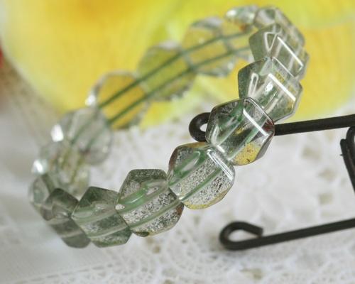 ガーデンクォーツ ブレスレット 送料無料 AAA級マダガスカル産 グルーンガーデンクォーツ バングル ブレスレット 天然石 ブレスレット パワーストーン ブレスレット