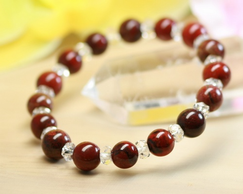 fancy product elements crop bracelet jasper earth
