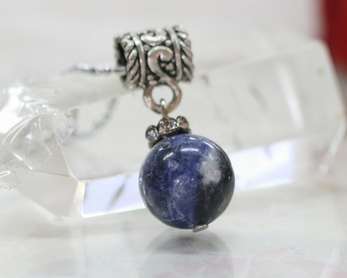 herb shop necklace jewelry sodalite raw gypsy pendant apothecary com metaphysical crystals gypsyherbshop