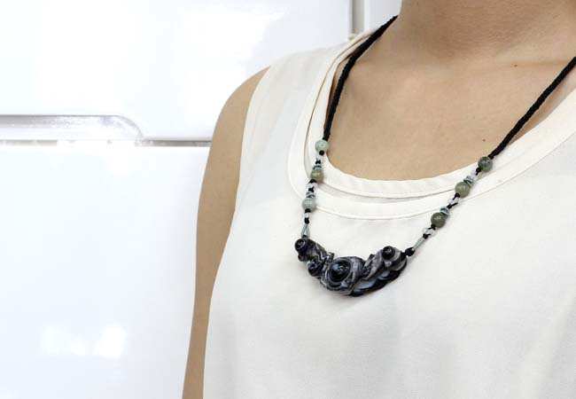 パワーストーン ネックレス 天眼石 翡翠 ネックレス チョーカーネックレス 天然石 マクラメ編み ネックレス 天眼石蝙蝠 こうもり