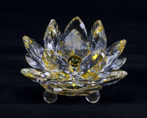 Crystal Glass Lotus Flower Healing Lotus Flower Ornaments Crystal Glass Lotus Flower Ornament Item Crystal Glass Lotus Flower Small Feng Shui Toy Good