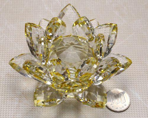 Koufukunoisi Crystal Lotus Flower Figurine Healing Items Feng