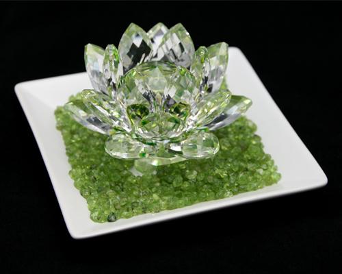 Koufukunoisi Crystalgarathlotus Crystal Glass Lotus Flower Green