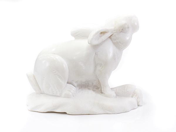 2020年 縁起物 招福 ウサギ置物 うさぎ 置物 風水置物十二 干支 卯 風水 開運アイテム 開運グッズ お守り 置物 天然石彫刻