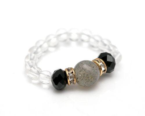 尖晶石   拉长石尖晶石水晶戒指   尖晶石拉长石戒指   尖晶石长石水晶戒指   石   石  