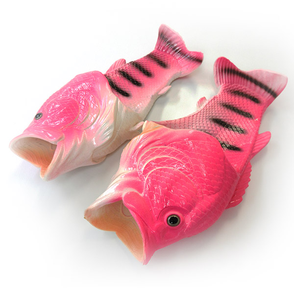 d0d6fd5a774009 Large-mouth bass sandals slippers fish interesting beach sandal men s  interesting goods enthusiast