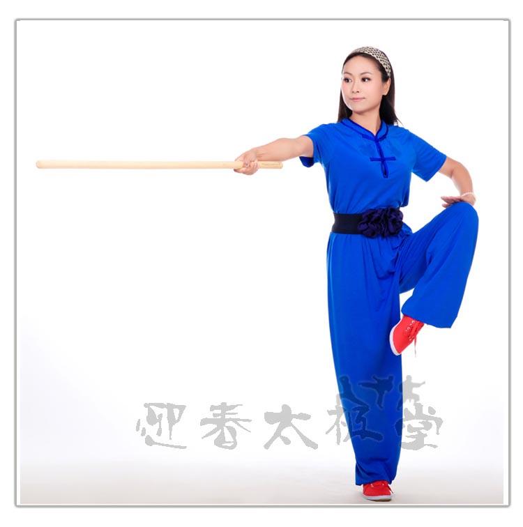青色木蘭服 武術服 太極拳服 伝統木蘭服