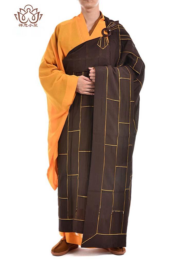 非常に珍しい仏教服!仏教和尚服 僧服綿麻カソック 袈裟(けさ)