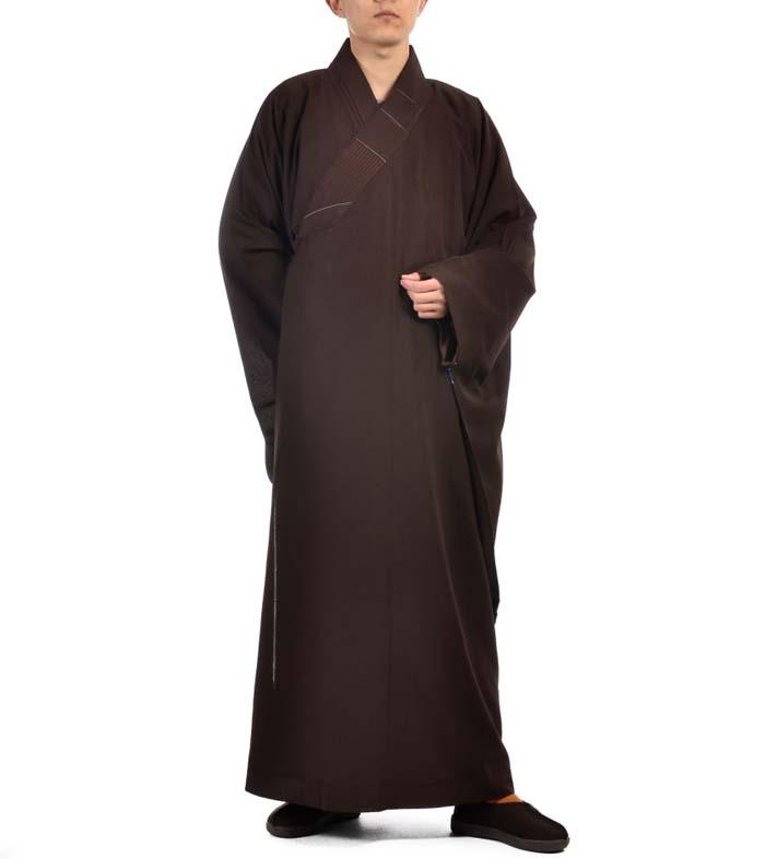 非常に珍しい仏教服!ドレープ和尚服 亜明紗海青僧服