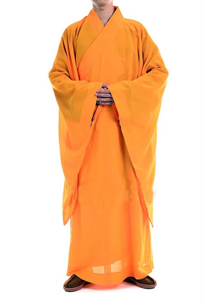 非常に珍しい仏教服!和尚服 高級台海青僧服(黄色)