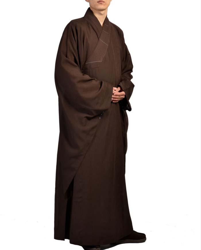非常に珍しい仏教服!高級和尚服 台麻海青僧服