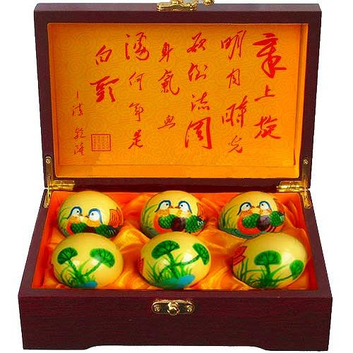 中国の伝統的な健康器具の一つ!鴛鴦セット健身球【太極拳】【健身球
