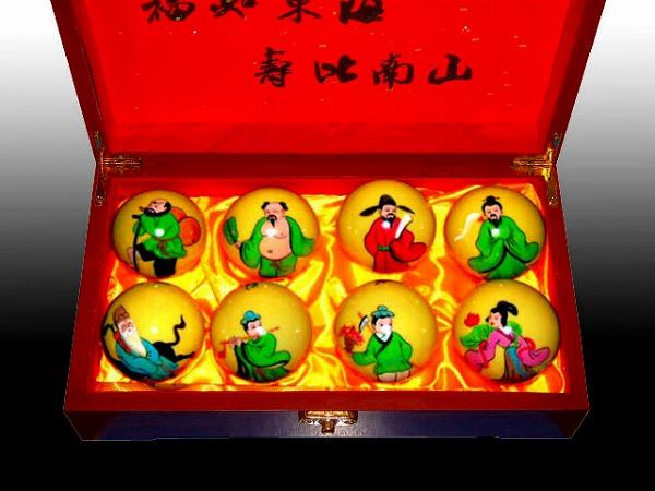 中国の伝統的な健康器具の一つ!八仙拝寿健身球【太極拳】【健身球】