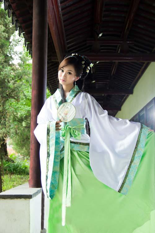 中国伝統の皇帝服(宮廷服) 貴妃服 女性用中華古装(緑色)