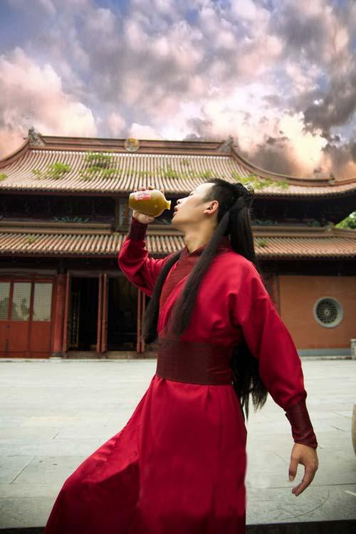 中国伝統の皇帝服(宮廷服) 袖細武侠服