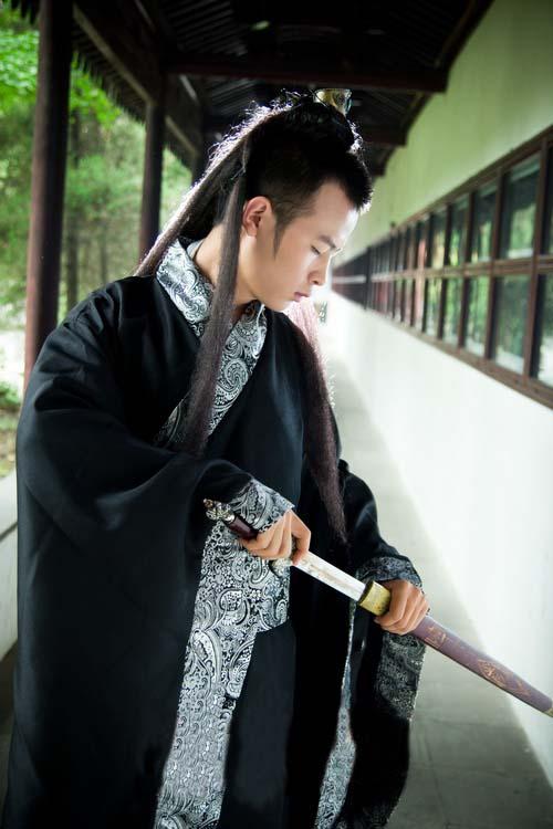中国伝統の皇帝服(宮廷服) 袖広武侠服