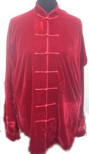 寒い冬に1着は欲しい!生地は厚めで暖かさ抜群!太極拳表演服・赤色冬用太極拳服