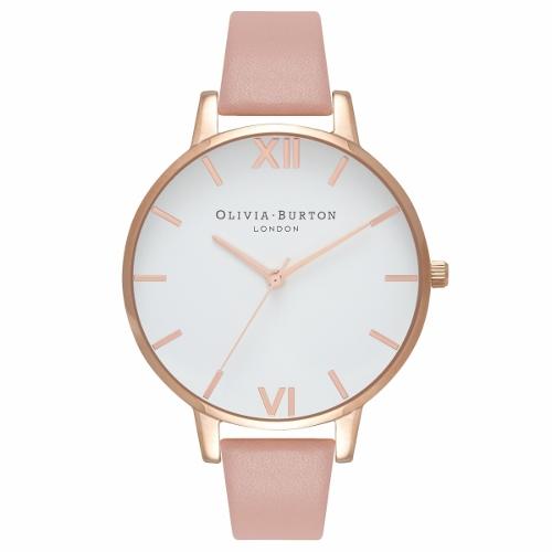 2年保証 新品 送料無料 OLIVIA BURTON オリビアバートン 腕時計 レディース White Dial OB16BDW25 38mm ローズゴールド Rose Gold ピンク(ダスティーピンク)【smtb-m】