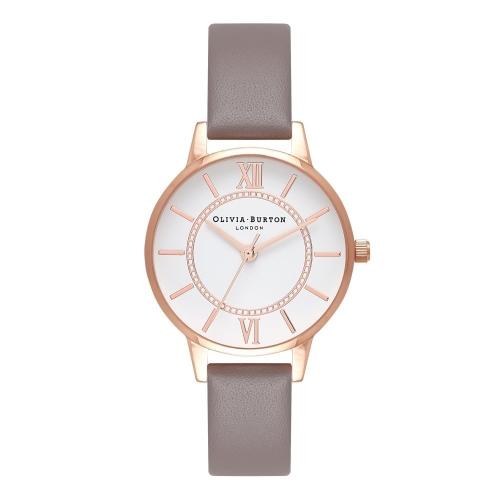 2年保証 新品 送料無料 OLIVIA BURTON オリビアバートン 腕時計 レディース Wonderland OB16WD63 30mm ローズゴールド Rose Gold グレー(ロンドングレー)【smtb-m】