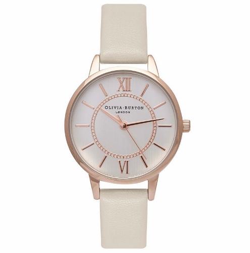 2年保証 新品 送料無料 OLIVIA BURTON オリビアバートン 腕時計 レディース Wonderland OB16WD65 30mm ローズゴールド Rose Gold アイボリー(ヌードホワイト)【smtb-m】